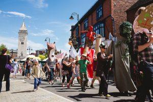 Gawain & Green Knight Community Parade @ Sparrow Park | England | United Kingdom