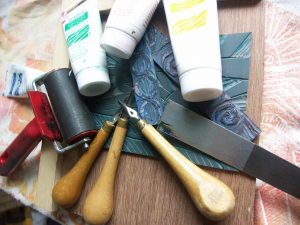 Dr Plot's Lino Printing Workshop with Heather Smith @ Cabbage Rose