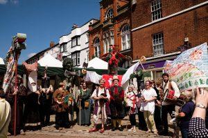 Sir Gawain & The Green Knight Street Theatre afternoon show @ Butter Cross, Leek Market Place